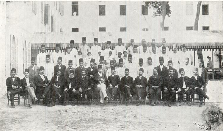 Staff of the school and hospital: 1884-1898